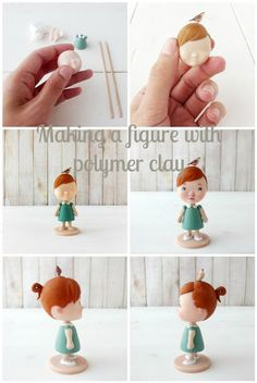 Polymer clay figure. Making of