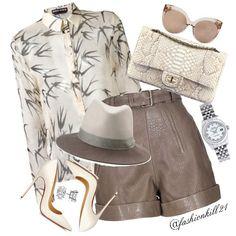 One of my fav❤️ DETAILS: Shirt #Rochas Frames #Lindafarrow  Shorts #Carven Purse…