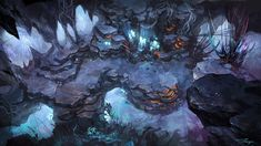 Check out this awesome piece by Tae wonjun on Fantasy Places, Fantasy Map, Fantasy World, Fantasy Art Landscapes, Fantasy Landscape, Art Environnemental, Rpg Map, Ouvrages D'art, Fantasy Setting