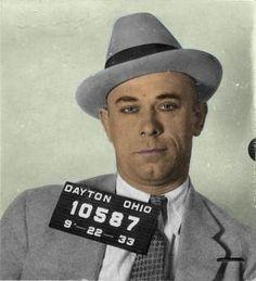 Our favorite bad boy, John Dillinger Gangster Wedding, Real Gangster, Mafia Gangster, Bonnie Et Clyde, Baby Face Nelson, Al Capone, Historical Pictures, Before Us, Mug Shots