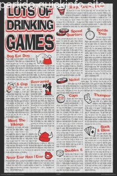 Ideas For Adult Party Games Drinking Alcohol Office Party Games, Teen Party Games, College Party Games, Sleepover Party, Alcohol Games, Alcohol Drink Recipes, Drinking Games For Parties, College Drinking Games, Adult Drinking Games