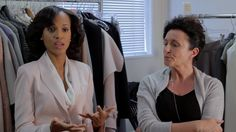 Go behind the scenes with star Kerry Washington and costume designer Lyn Paolo to get the scoop behind Olivia Popes signature style