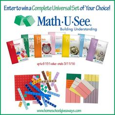 Enter to win a complete universal set of your choice from Math U See!