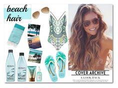 """Beach Hair Contest"" by tirass on Polyvore featuring beauty, Redken, Sachajuan, River Island, Ray-Ban, Kate Spade and beachhair"