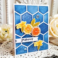 Summer Birthday, It's Your Birthday, Birthday Cards, Happy Birthday, Cool Cards, Diy Cards, Hexagon Cards, Simply Stamps, Birthday Sentiments