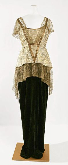 Evening Dress Made Of Silk And Metal, By Jeanne Paquin - French   c.1913-1914  -  The Metropolitan Museum of Art