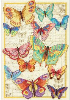 Dimensions Gold Collection Butterfly Beauty - Cross Stitch Kit. Dimensions Gold Collection Kits are wonderfully detailed with full and half cross stitches. This