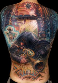 Tattoo Artist - Csaba Kolozsvari  | www.worldtattoogallery.com/back_tattoos