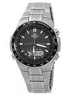 Casio EFA134SB-1A1 Men's Edifice Solar Powered Black Dial Stainless Steel Watch