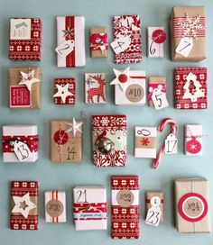 Gift Wrapping Ideas | Advent presents | Gift Wrapping Ideas