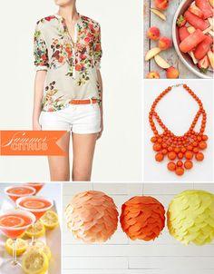 orangey.