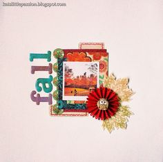 #fall #fall in new york #layout #scrapbooking #fall projects  http://katslittlepassion.blogspot.com/2013/10/scrappin-fantasies-challange-1.html