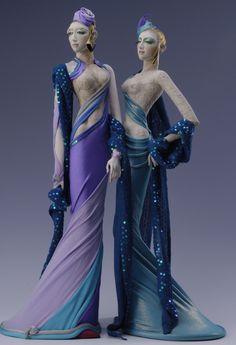 人形たちの後ろ姿の画像 | 辻村寿和Collection「寿三郎」創作人形の世界