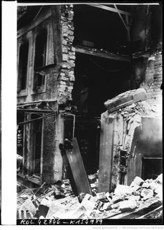 WW1 Ruins of a house in Reims after German bombardment.