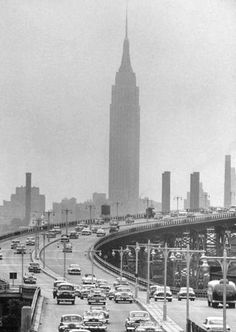 Empire State Building from Queens, 1952. Al Fenn, LIFE Magazine.