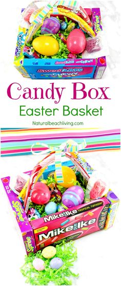 Candy Box Easter Baskets, DIY Gift ideas, Easter, Easter Craft, Easter Crafts, Gift Ideas, teen gifts