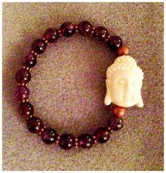 Amethyst Chakra Stretchy Bracelet with Buddha