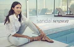 Sandal season: spring trends in women's sandals.