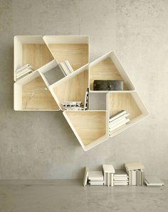 Modular Bookshelves | Jigsaw puzzle | Interior Design Inspiration