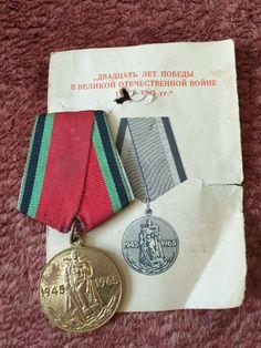 Vintage  Militaria USSR badge pin medal 20 year WW2 Victory