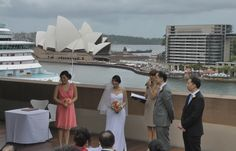 Colin and Wing Shan's wedding ceremony at the Museum of Contemporary Art, Sydney NSW.