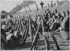 Czech soldiers attempt to protect their borders from imminent German attack during World War Two, March 14th 1939.