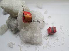 Cercei Eco cub Portocaliu Colorat