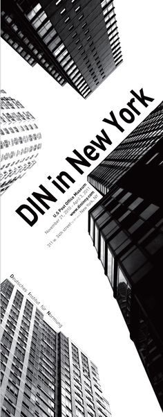 exhibition poster :: DIN in new york -------------------------------------------- layout #new_york_design