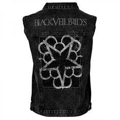 Black Veil Brides Pentagram Vest TM Stores ($67) ❤ liked on Polyvore featuring outerwear, vests, black veil brides, jackets, bvb, tops and vest waistcoat