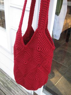 Inga bag crocheted in red - my fave!