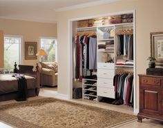 Closet has been recessed and is open