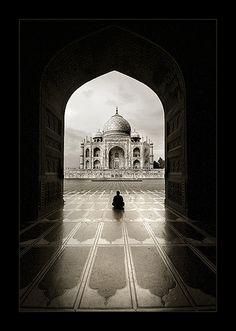 Solitude (Taj Mahal) by Thamer Al-Tassan, via Flickr