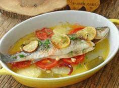 Fırında Hamsi Buğulama Tarifi, Nasıl Yapılır? (Resimli)   Yemek Tarifleri Fish Recipes, Great Recipes, Thai Red Curry, Seafood, Food And Drink, Chicken, Fruit, Vegetables, Ethnic Recipes