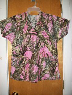 Items similar to Pink Camo Scrub Shirt Size Med on Etsy Camo Scrubs, Large Animal Vet, Nursing Clothing, Halloween Scrubs, Scrub Life, Medical Scrubs, Medical Assistant, Medical Field, Pink Camo