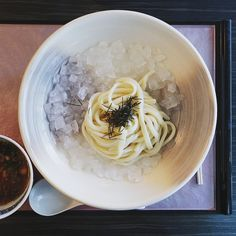 Cold udon with ponzu broth (hiyashi tsuke-men), Ishin Kobo Udon, Berlin.