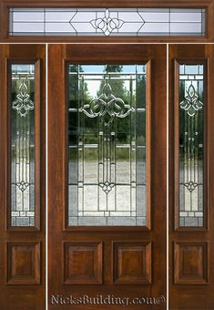 Fresh Glass Entry Door with Sidelights