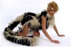 Barbarella // LOVE this costume! It's so cute and realistic how the tail kept getting in the way, too!