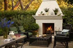 cozy outdoor conversation area | Kristen Panitch Outdoor Furniture