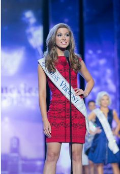 Miss Vermont | Miss America 2016 | wearing Joseph Ribkoff.  This dress now available at Aspirations.#missamerica #josephribkoff   Image credits: https://www.facebook.com/missamerica