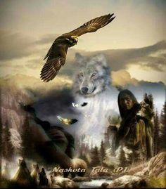Wakeby Wolf & Preying Hawk