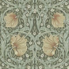 William Morris & Co Tapet Pimpernel Bayleaf/Manilla William Morris Wallpaper, Morris Wallpapers, William Morris Tapet, Fabric Wallpaper, Wallpaper Roll, Craftsman Wallpaper, Cottage Wallpaper, Painted Rug, Groomsmen