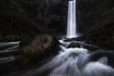 Cold Plunge by James Xiang            This is probably the most magnificent waterfall I've seen, and it's so close to our home Vancouver! This shot was taken actually during my first trip to this fall. I wasn't intending to make any photo since I wasn't wearing my waders. However, I accidentally stepped into the freezing cold water and decided I must make a photo out of this! And so here it is.            James Xiang: Photos                                 #nature #photography