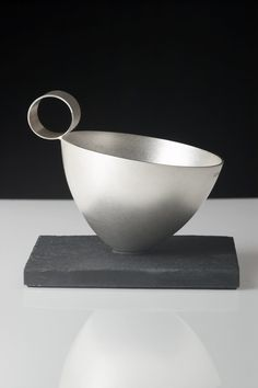 Louise Loder - Silverware cup on slate