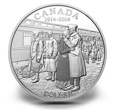 Proof Fine Silver Dollar - 100th Anniversary of the Declaration of the First World War (2014)