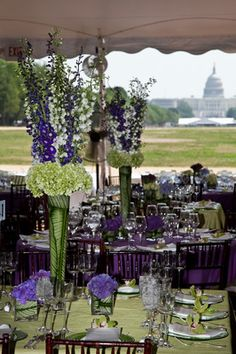 gorgeous greens and purples at a garden party on the national mall. i worked this event, no big deal :)