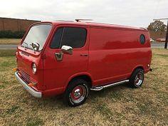 Chevrolet : Other RED 1965 Chevrolet Van Restored and Killer! Chevy Vans, Astro Van, Van Car, Day Van, Chevrolet Trax, Cool Vans, Vintage Vans, Custom Vans, Station Wagon