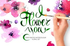Vector Floral Collection of Painted by KatyaBranch on @creativemarket