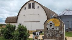 Located near the small town of Amber, Iowa, Teddy's is in a three-level, remodeled, round-roof barn.