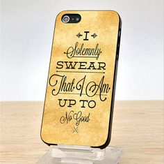 I Solemnly Swear That I Am Harry Potter iPhone Case Cover, iPhone 4 Cace, iphone 4S Case, iPhone 5 Case