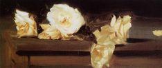 Roses, 1886 by John Singer Sargent. Impressionism. flower painting